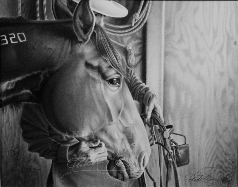 Gentle Hands, pencil art by Andy Mast