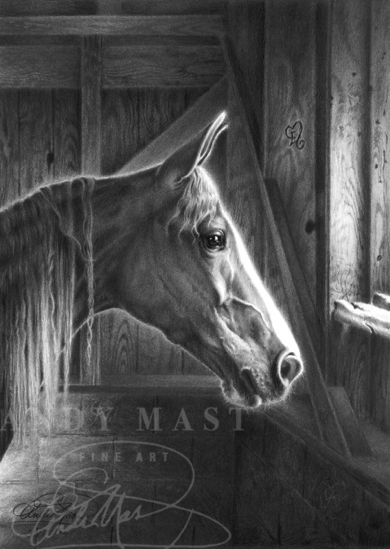 Dawn of a New Day, pencil art by Andy Mast