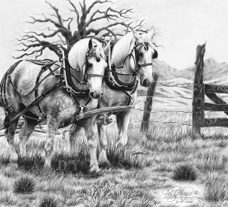 Dream Team, pencil art by Andy Mast