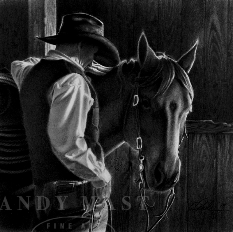 Morning Devotion, pencil art by Andy Mast