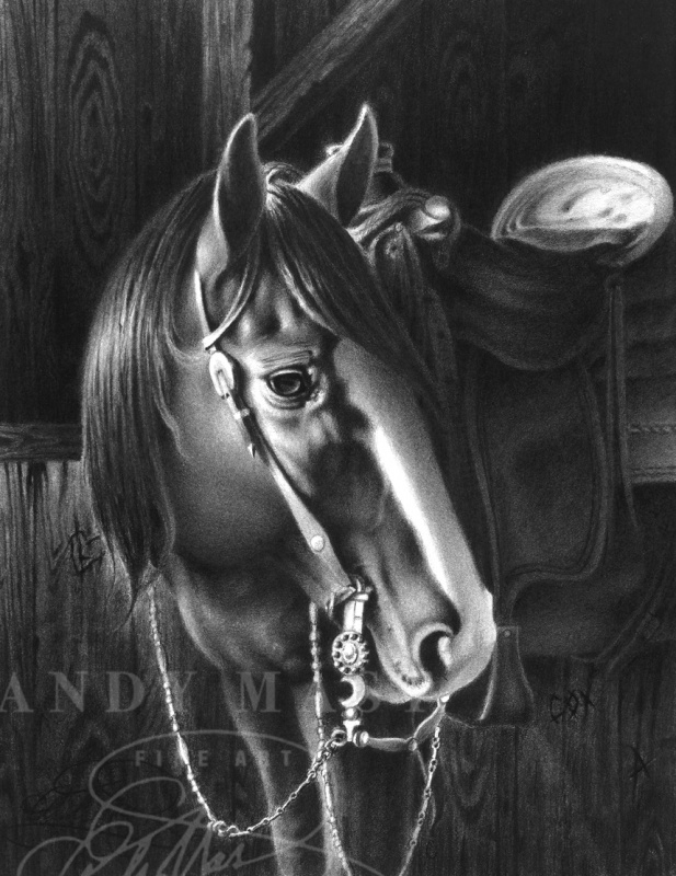 Quiet Patience, pencil art by Andy Mast