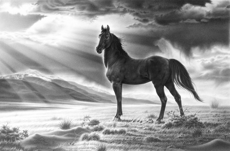 Spirit of the Valley, pencil art by Andy Mast